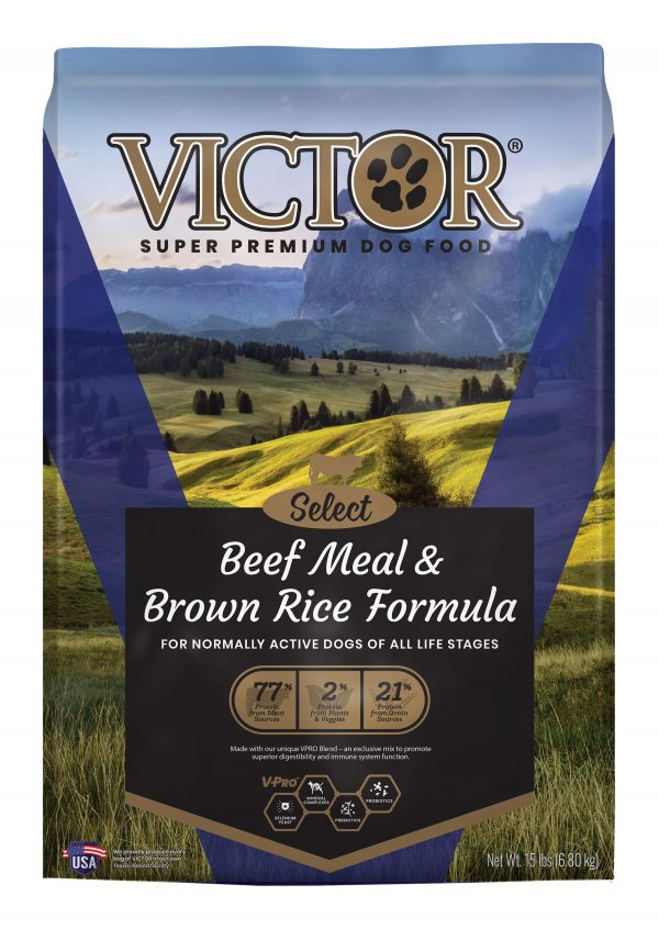 Beef Meal and Brown Rice Formula, Dry Dog Food, 15LB